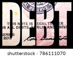 debt and money  united states... | Shutterstock . vector #786111070