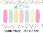vector illustration of weekly... | Shutterstock .eps vector #786114520