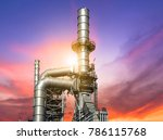 close up industrial view at oil ... | Shutterstock . vector #786115768