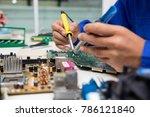 electronic engineer of computer ... | Shutterstock . vector #786121840