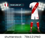 peru soccer jersey kit with... | Shutterstock .eps vector #786121960