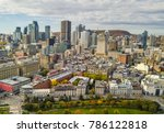 old montreal view in autumn  | Shutterstock . vector #786122818