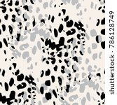 seamless animal print. spotted... | Shutterstock .eps vector #786128749