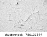 old white paint wall with crack ... | Shutterstock . vector #786131599