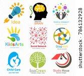 creative logo set. brand... | Shutterstock .eps vector #786132928