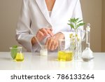 the scientist dermatologist... | Shutterstock . vector #786133264