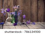 Spring Flowers In Glass Vessel...
