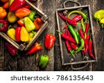 Sweet And Hot Pepper In Boxes....