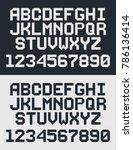 pixel retro font  8 bit letters ...   Shutterstock .eps vector #786136414