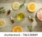 natural cosmetic skincare serum ... | Shutterstock . vector #786138889
