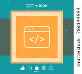 code editor icon | Shutterstock .eps vector #786144994