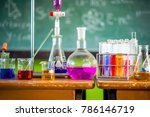 experiments in chemistry... | Shutterstock . vector #786146719