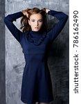 fashion shot. beautiful young... | Shutterstock . vector #786162490