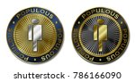 cryptocurrency populous coin | Shutterstock . vector #786166090