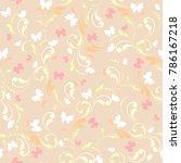 flowers and butterflies. floral ... | Shutterstock .eps vector #786167218