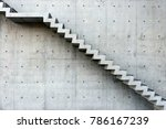 concrete staircase with... | Shutterstock . vector #786167239