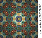 geometric hipster tiles... | Shutterstock .eps vector #786168508
