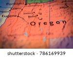 oregon map background | Shutterstock . vector #786169939
