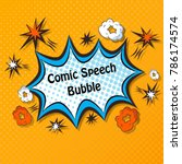 comic speech bubbles. comic... | Shutterstock .eps vector #786174574