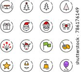line vector icon set   cafe... | Shutterstock .eps vector #786176149