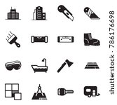 Solid Black Vector Icon Set  ...