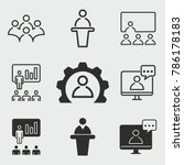 conference vector icons set.... | Shutterstock .eps vector #786178183