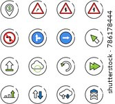 line vector icon set   dollar... | Shutterstock .eps vector #786178444