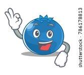 okay blueberry character... | Shutterstock .eps vector #786178813