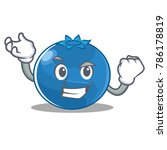 successful blueberry character... | Shutterstock .eps vector #786178819