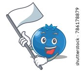with flag blueberry character... | Shutterstock .eps vector #786178879