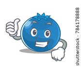 thumbs up blueberry character... | Shutterstock .eps vector #786178888