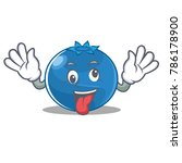 crazy blueberry character... | Shutterstock .eps vector #786178900