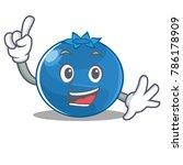 finger blueberry character... | Shutterstock .eps vector #786178909