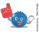 foam finger blueberry character ... | Shutterstock .eps vector #786179368