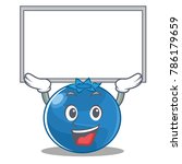 up board blueberry character... | Shutterstock .eps vector #786179659