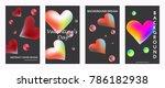 liquid color covers set. fluid... | Shutterstock .eps vector #786182938