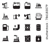 solid black vector icon set  ... | Shutterstock .eps vector #786183079