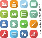 flat vector icon set   cashbox... | Shutterstock .eps vector #786190813