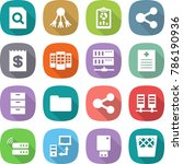 flat vector icon set   search... | Shutterstock .eps vector #786190936