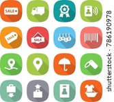 flat vector icon set   sale... | Shutterstock .eps vector #786190978
