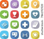 flat vector icon set   atom... | Shutterstock .eps vector #786192520