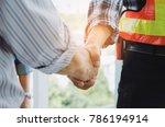 engineers and technician... | Shutterstock . vector #786194914