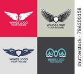 wings logo template | Shutterstock .eps vector #786200158