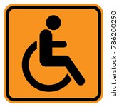 disabled  handicapped  person... | Shutterstock .eps vector #786200290