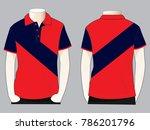 sport polo shirt design oblique ...   Shutterstock .eps vector #786201796