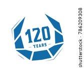 120 years design template.... | Shutterstock .eps vector #786209308