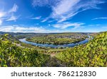 famous moselle river loop in...   Shutterstock . vector #786212830