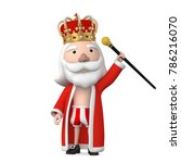 old naked king wearing crown... | Shutterstock . vector #786216070