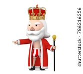old naked king wearing crown... | Shutterstock . vector #786216256