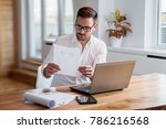 businessman working on a laptop  | Shutterstock . vector #786216568